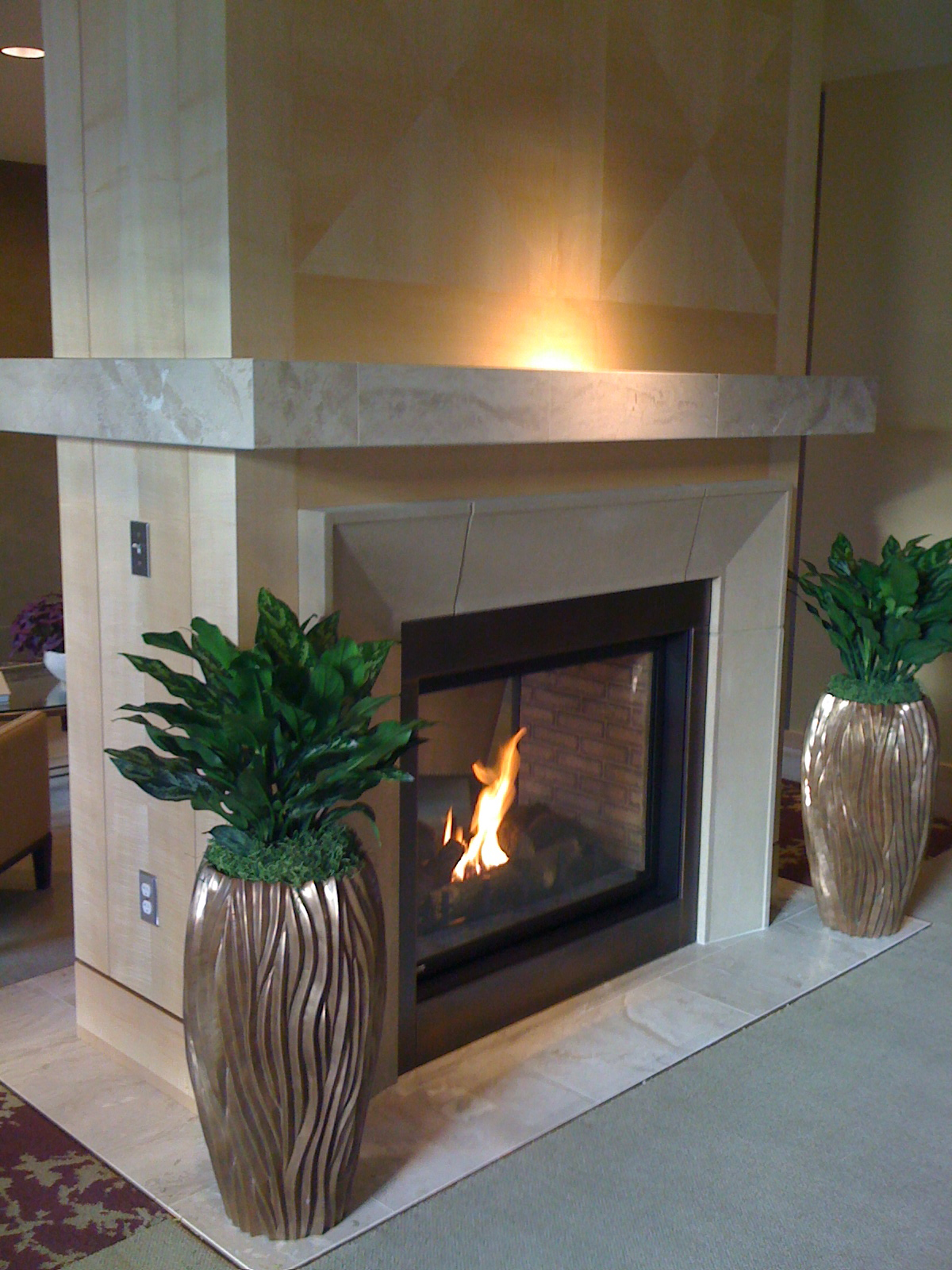 Bravern signature residences for 2 way fireplace